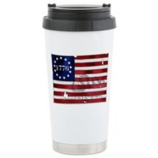 1776_american_flag_old copy Travel Mug