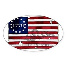 1776_american_flag_old copy Decal