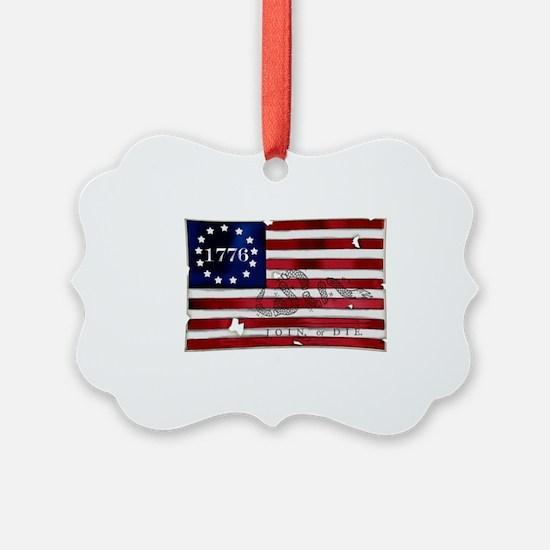 1776_american_flag_old copy Ornament