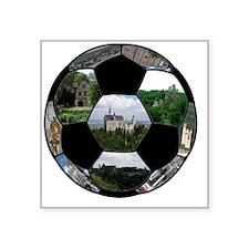 "german football Square Sticker 3"" x 3"""