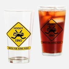 HockeyXing Drinking Glass