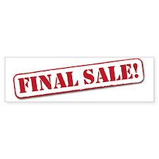 final Sale Bumper Sticker