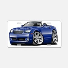 Crossfire Blue Convertible Aluminum License Plate