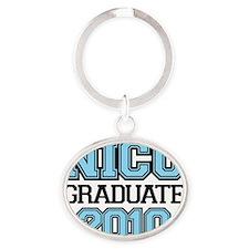 NICU Graduate Boy Oval Keychain