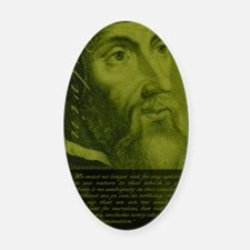 Jrnl_Calvin-AgainstFreeWill Oval Car Magnet