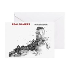 Real Gamers mm Greeting Card