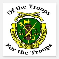 """ofthetroopsmp.gif Square Car Magnet 3"""" x 3"""""""