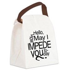 how may i impede Canvas Lunch Bag