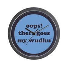 wudhu_blues Wall Clock