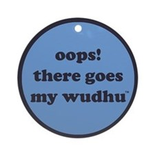 wudhu_blues Round Ornament