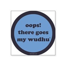 "wudhu_blues Square Sticker 3"" x 3"""
