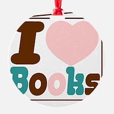 i love books Ornament