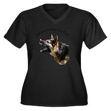 hear my dad  Women's Plus Size Dark V-Neck T-Shirt