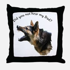 hear my dad trans background Throw Pillow