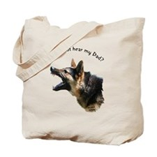 hear my dad trans background Tote Bag