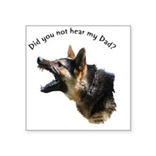 "hear my dad trans backgroun Square Sticker 3"" x 3"""