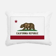 California Flag Rectangular Canvas Pillow