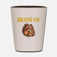 bravo co bulldog black.gif Shot Glass