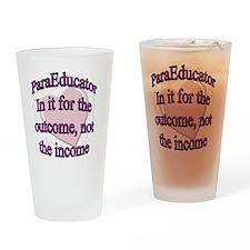 paraed purple copy Drinking Glass