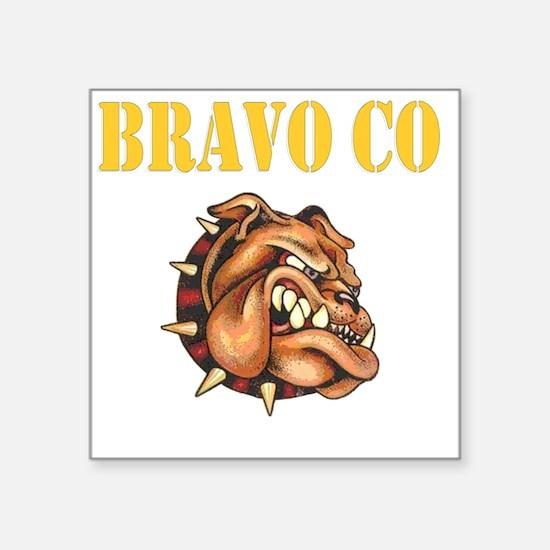 """bravo co bulldog black.gif Square Sticker 3"""" x 3"""""""