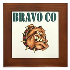 bravo co bulldog white.gif Framed Tile