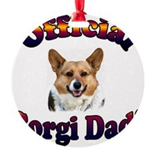 Official Corgi Dad Tri OC Ornament