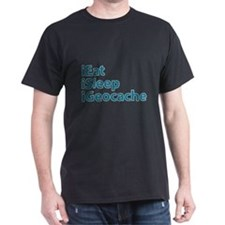 ieat isleep igeocache transparent T-Shirt