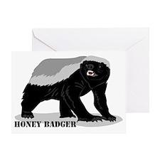 honeybadger_design2 Greeting Card