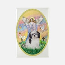 Angel Blessing a Shih Tzu (black  Rectangle Magnet