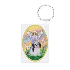 Angel Blessing a Shih Tzu  Keychains