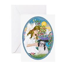 Angel Love and Shih Tzu (A) Greeting Card