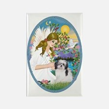 Angel Love and Shih Tzu (A) Rectangle Magnet