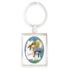 Angel Love and Shih Tzu (A) Portrait Keychain