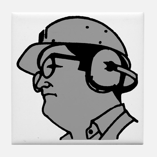 Use Hearing Protection Tile Coaster