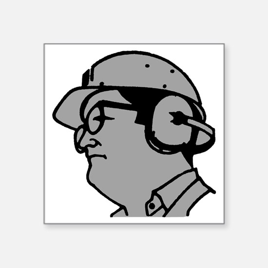"""Use Hearing Protection Square Sticker 3"""" x 3"""""""