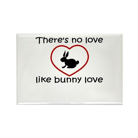 Bunny Love Rectangle Magnet