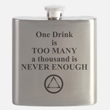 One Drink is Too Many...... Flask
