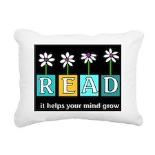 helps your mind grow Rectangular Canvas Pillow