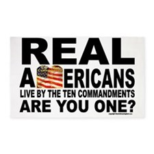 Real Americans Live by the Ten comm 3'x5' Area Rug