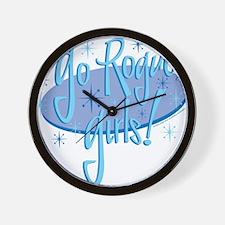 Go rogue Dark Wall Clock