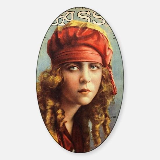 June Caprice 1917 Sticker (Oval)