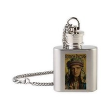 Rudolph Valentino 1922 Flask Necklace