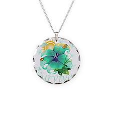 Survivor flower teal Necklace