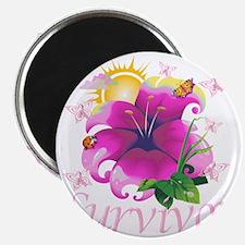 Survivor flower pink Magnet