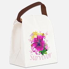 Survivor flower pink Canvas Lunch Bag