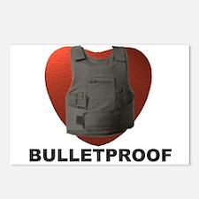 'Bulletproof Heart' Postcards (Package of 8)