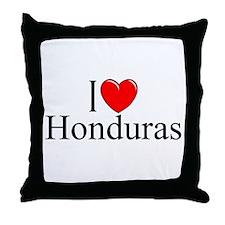 """I Love Honduras"" Throw Pillow"