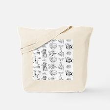 MyBlackToile Tote Bag