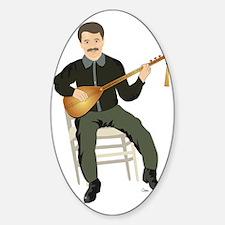 Saz Player Sticker (Oval)