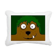 benjiwolfbuttonXL Rectangular Canvas Pillow
